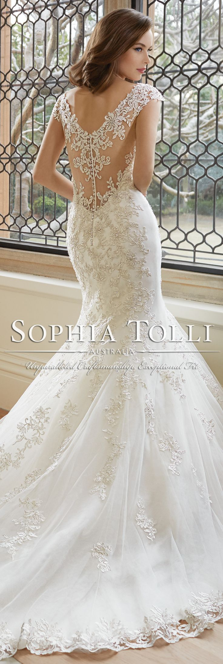 The Sophia Tolli Spring 2016 Wedding Dress Collection - Style No. Y11646 - Rana #laceweddingdress
