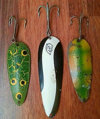 Lot of 3 Vintage DARDEVLE Spoons-Fishing Lures