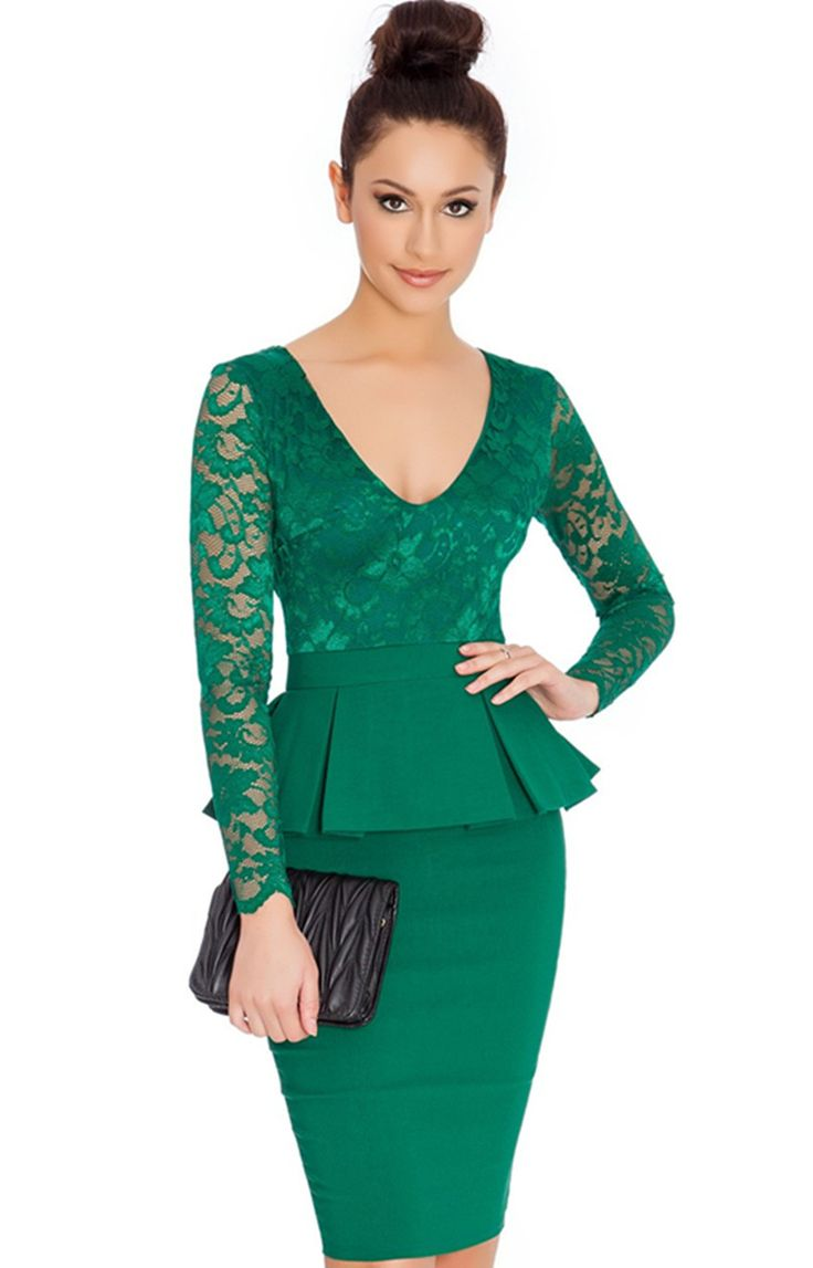 Chasing Dreams Peplum Dress - 3 Colors Available!