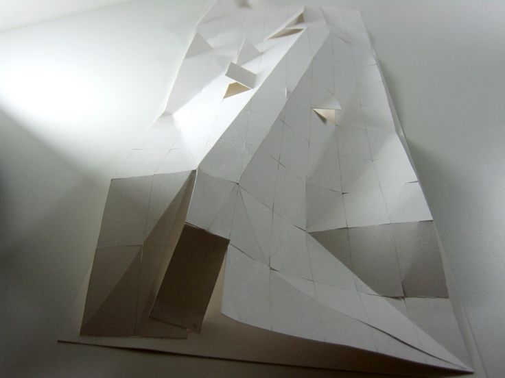 27 best images about paper models on pinterest models for Architecture origami