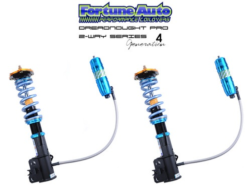 New Fortune Auto Dreadnought Pro Generation 4's 2 Way Coilover System. These are incredible!