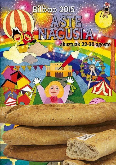 Este año Bizkarra estará en Aste Nagusia bilbaína en la forma que más nos gusta: en los bocatas y los pintxos que se van a servir en las txoznas de Txomin Barullo, Gogorregi y Federico Ezkerra, que se elaborarán con pan Bizkarra. http://www.bizkarra.com/pan-bizkarra-en-aste-nagusia/