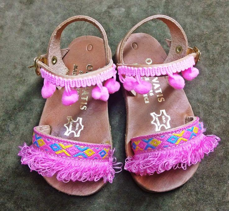 leather boho sandals for kids