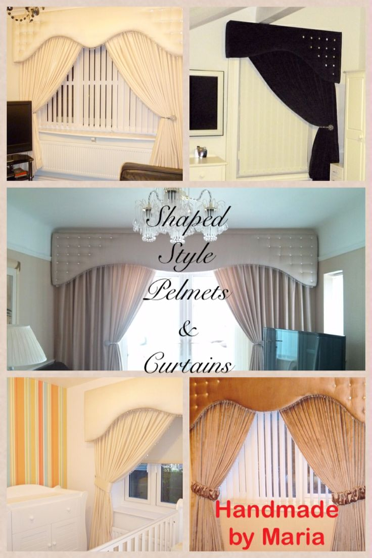 Shaped Style Pelmet  Curtain collection.