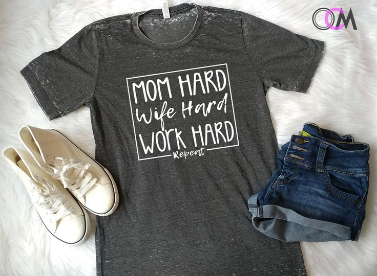 Mom Hard Wife Hard Work Hard Repeat Shirt, Entrepreneur Shirt, Mom Boss, Mama Shirt, momlife Shirt, Wife Hard, Work Hard, Mom Hard by 1OneCraftyMomma on Etsy - Tap the link now to Learn how I made it to 1 million in sales in 5 months with e-commerce! I'll give you the 3 advertising phases I did to make it for FREE!