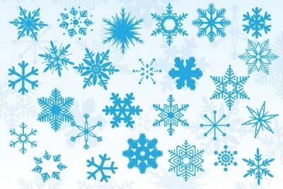 A variety of vector snowflakes for a winter themed design project. Enjoy!