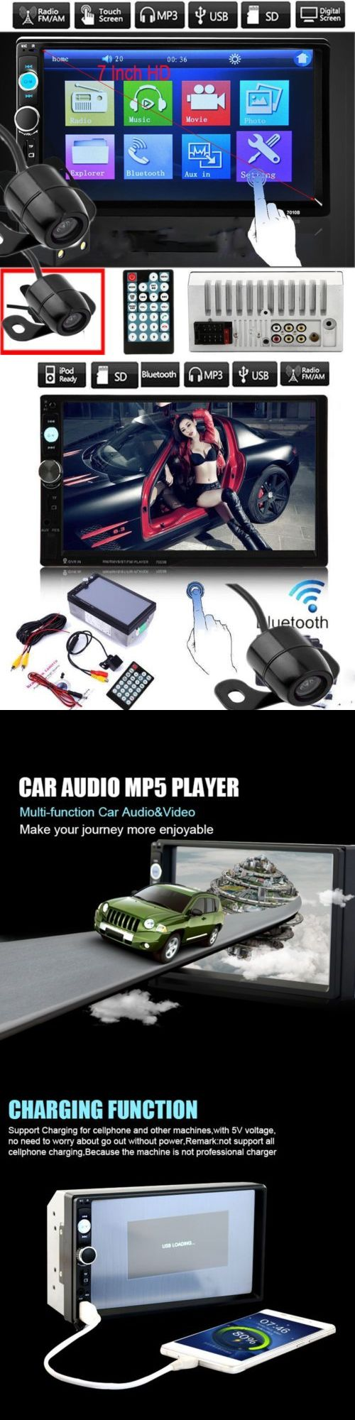 Vehicle Electronics And GPS: Camera + 7 Hd Touch Screen 2Din Car Gps Radio Audio In-Dash Stereo Mp5 Player BUY IT NOW ONLY: $57.35