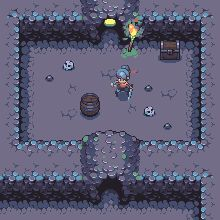 game, girl, hero, cave, chest, fire, torch, rpg, barrel, skull, jrpg, anime, 8 bit gifs, 8 bit animated gifs, gifs 8 bit, game gifs, gifs jogos, animacion, animated, animados, animação, animacion, 8bit, pixel art, character design