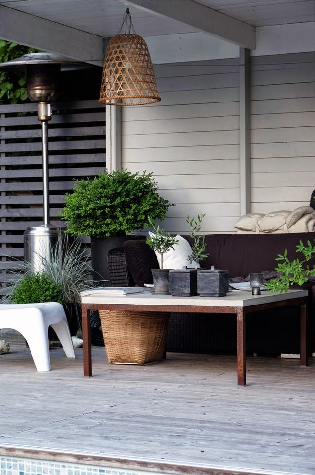 Today´s inspiration   green outdoor living in the poolhouse (via Bloglovin.com )