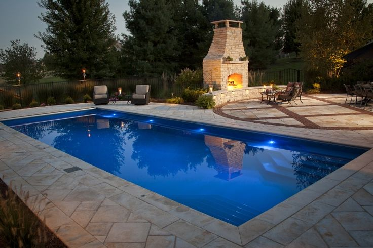 Palm Beach Style Fiberglass Inground Pool | Luxury Pools and Living
