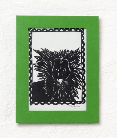 Lion original paper cut - great addition to the wall to brighten up any kids room