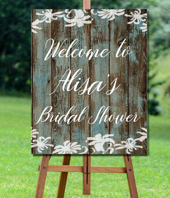 Bridal Shower Welcome Sign Printable, Rustic Bridal Shower Sign, Barn Wood Bridal Shower Welcome, Lace Bridal Shower Welcome Sign Printable