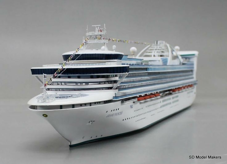 Grand Princess WATERLINE MODEL Scale Ocean - Cruise ship model kits