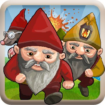 New updated and lively app #icon design for Clash of Gnomes Video #Game