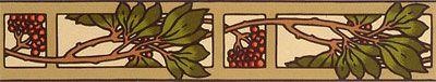 Bradbury Arts & Crafts Home Design | Thornberry Wallpaper Border in Thatch