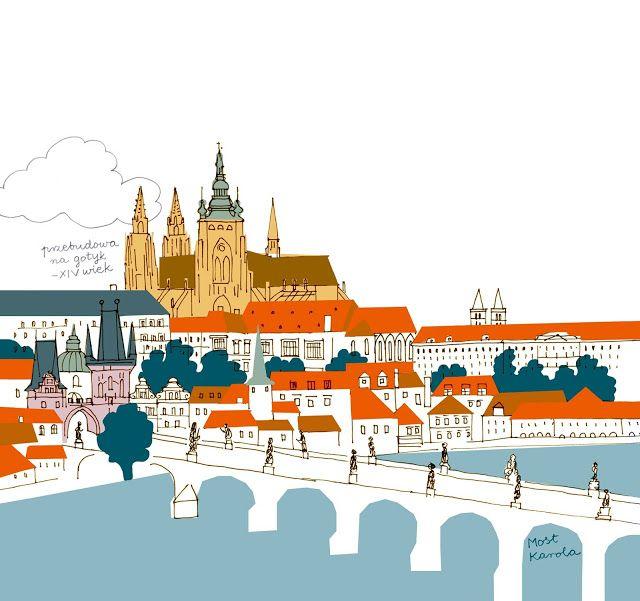 polska ilustracja dla dzieci: Nowość - Praga dla młodych podróżników
