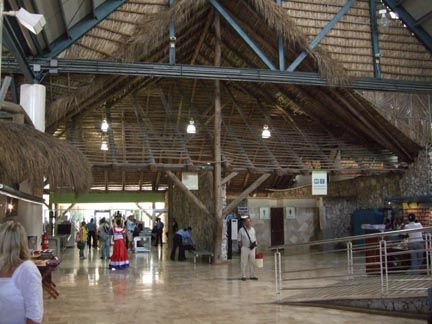 That's not Gilligan's Island - that's the international airport in Punta Cana, Dominican Republic
