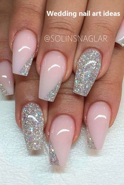 35 Simple Ideas for Wedding Nails Design #nailart #naildesigns