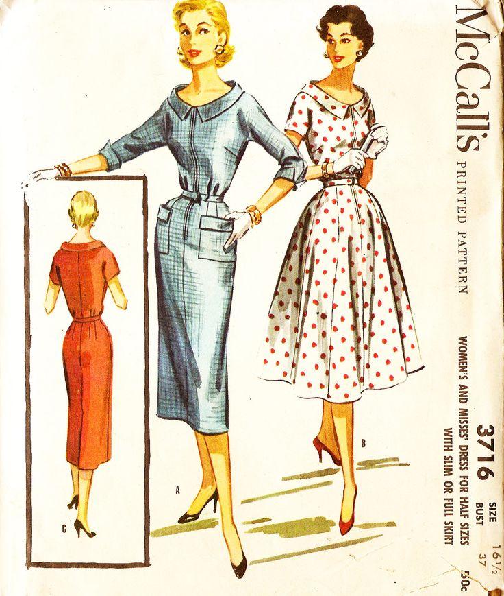 233 besten 1950s Vintage Patterns Bilder auf Pinterest | 1940er ...
