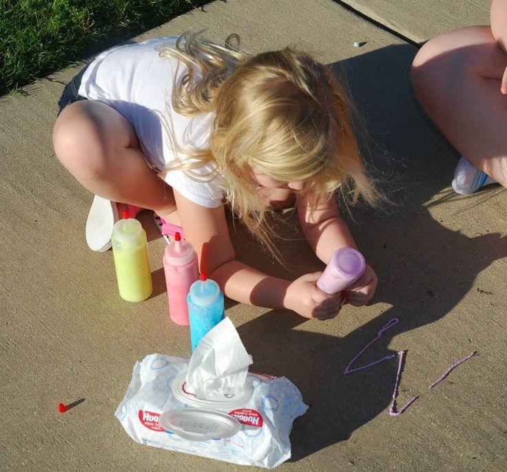 Make #DIY Sidewalk Foam Paint & #HugtheMess for easy clean up! #ad #craft #cbias  – Teacher stuff