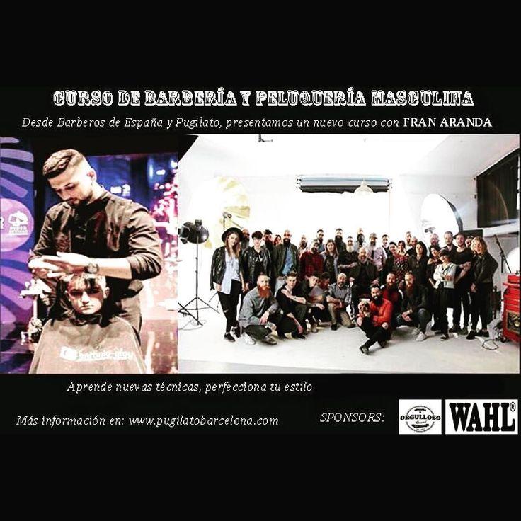 Curso de Peluqueria masculina y Barberia día 29 de mayo con @barberosdeespana y @franaranda_barber toda la Info en http://ift.tt/1yu5iTa #barberia#barbershop#pugilatobarcelonaformacion#wahl#wahlspain#photostudio#thebrain#profoto#cool# by pugilatobarcelona