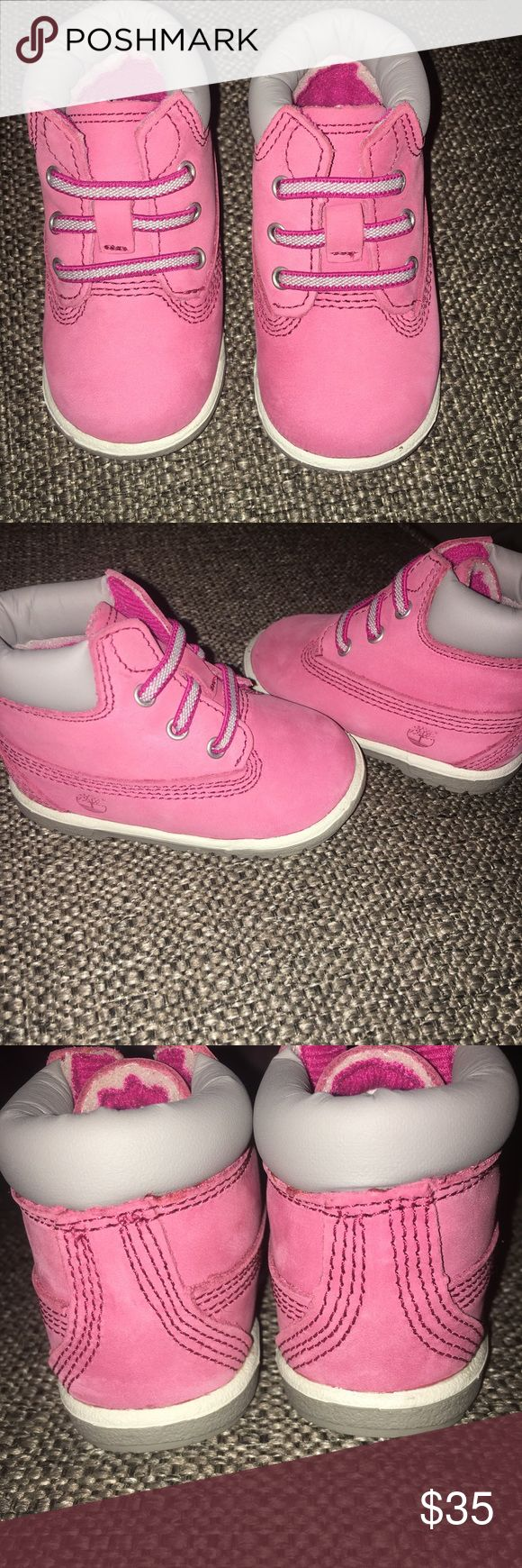 New in box baby girl timberlands size 2 Brand new in box. Size 2. Baby girl timberland boots. Would make a great Christmas present!!! Timberland Shoes Baby & Walker