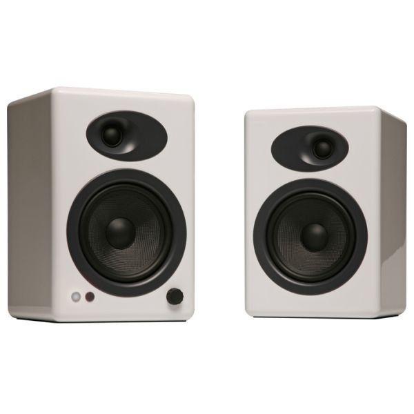 hifi hut powered - Audioengine A5+ Powered Speakers (Pair) - Gloss White (AEA5GW)