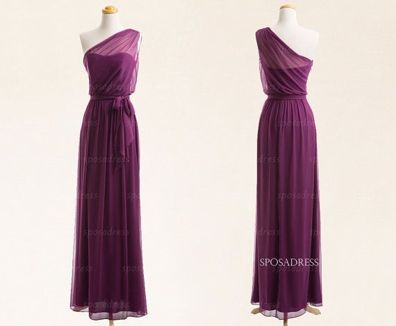 Long bridesmaid dress purple bridesmaid dress cheap by sposadress, $119.00