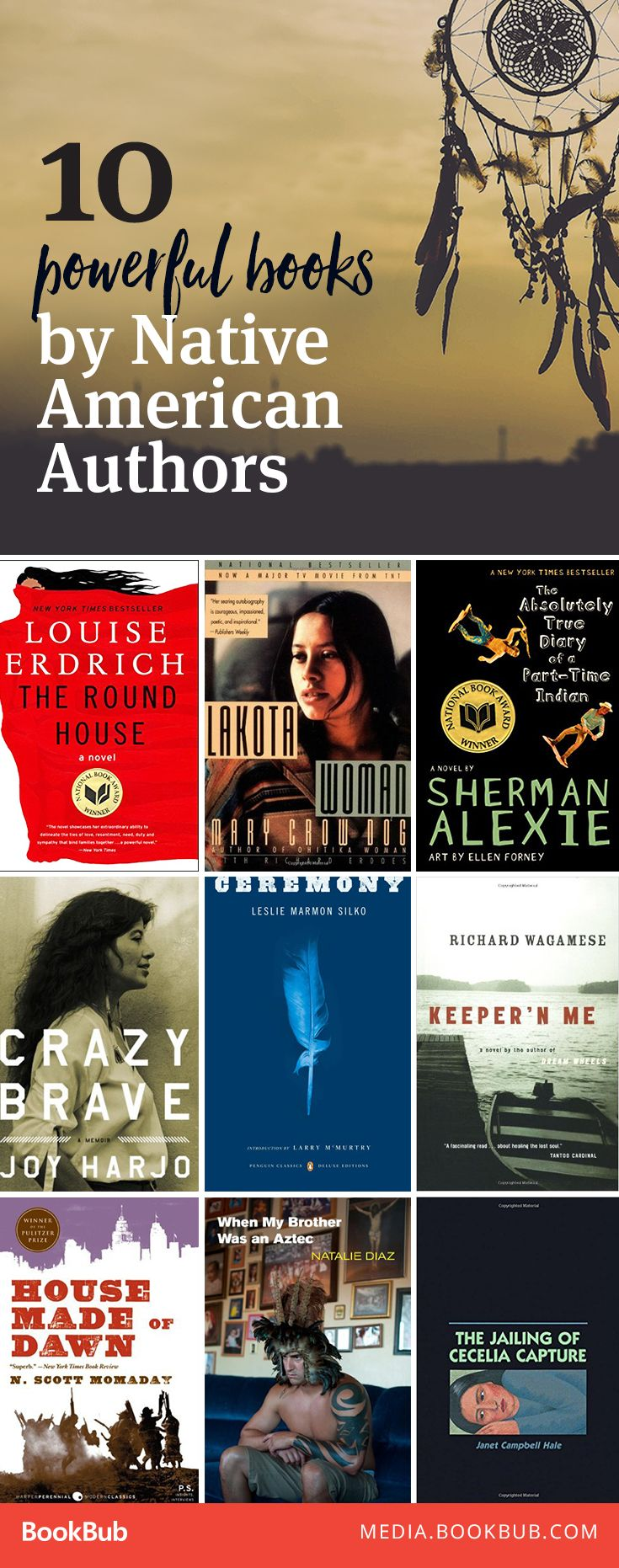 10 inspirational books to read next, written by Native American authors.