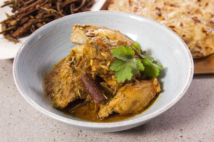 Punjabi Chicken Curry, Okra and Paranthas