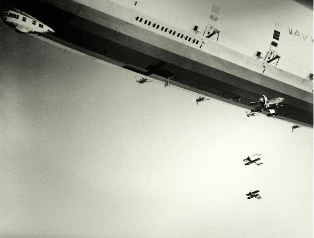The USS Macon releases her Sparrowhawks 1933