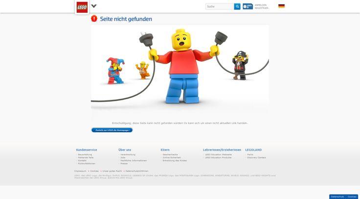 404-Seite von Lego