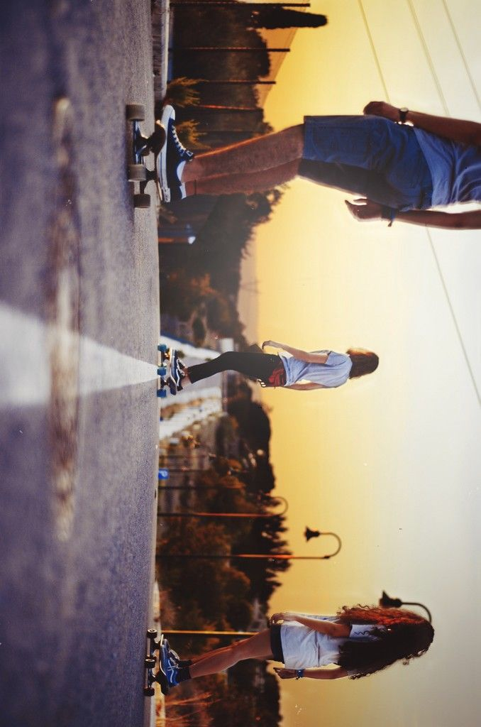 Longboard down the sunset streets love to skate everyday and all day