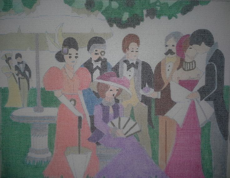 Sasi Creations Inc. Lawn Party 3022-T Needlepoint Canvas