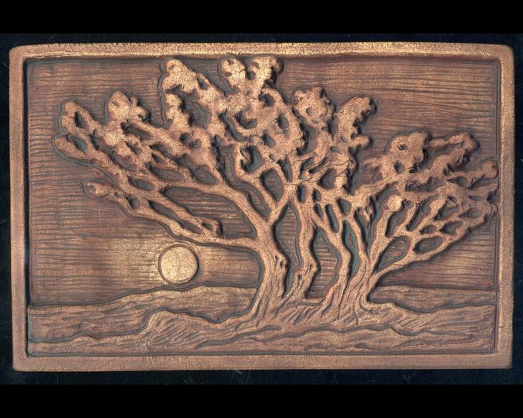 Grove of Trees Craftsman style Art Tile. $39.00, via Etsy.