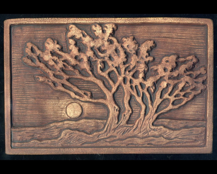 Grove of Trees Craftsman style Art Tile. $39.00, via Etsy.