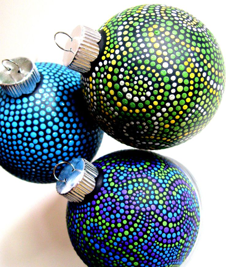 98 best pointillism images on pinterest school for Glass christmas ornaments to paint