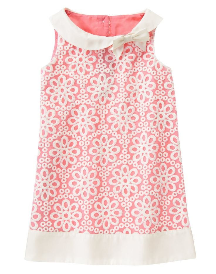 Embroidered Organza Dress at Gymboree/ Love the collar idea