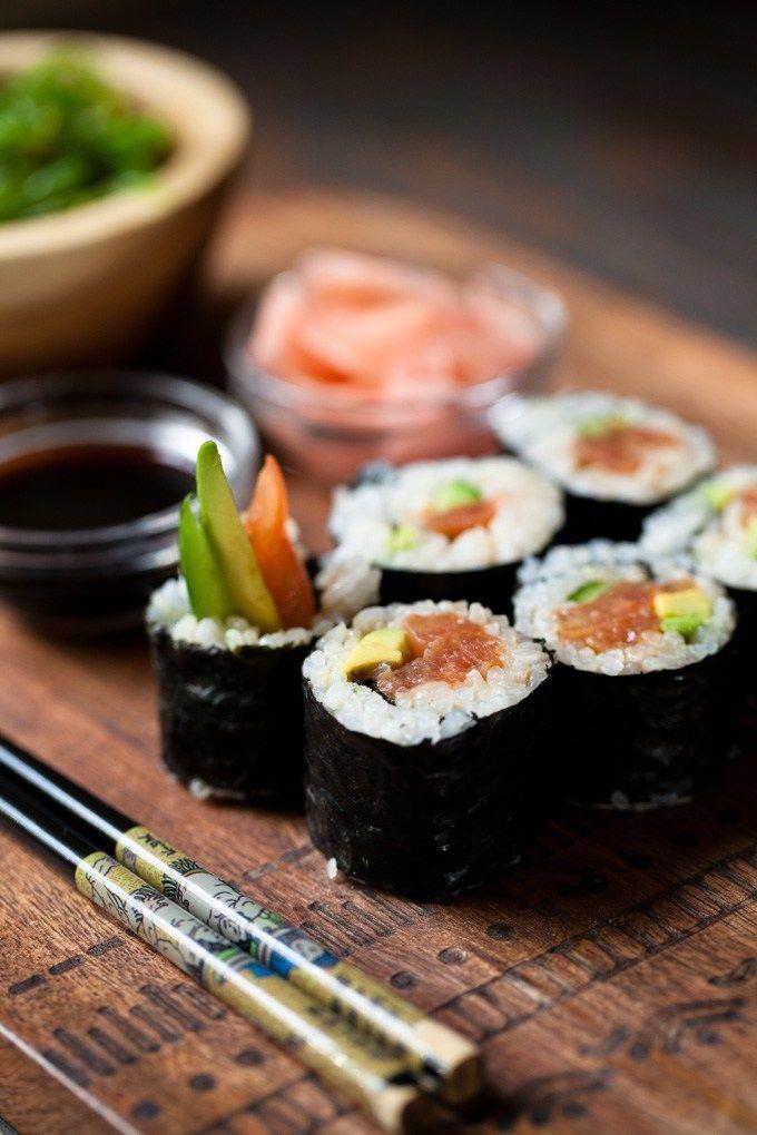 Easy Vegan Sushi With Tomato Spicy Tuna