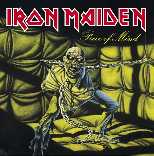 Iron Maiden - Piece Of Mind, the first ever Maiden album I ever listened to. I can safely say these guys have taken more metalhead music virginity than any other band in the world, as for their cover art, nothing says Heavy Metal more than Eddie the 'ead.