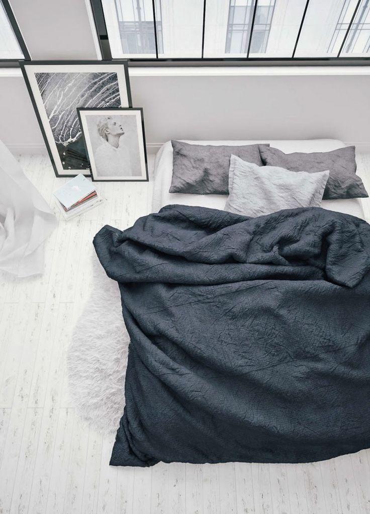 Navy + White Bedroom