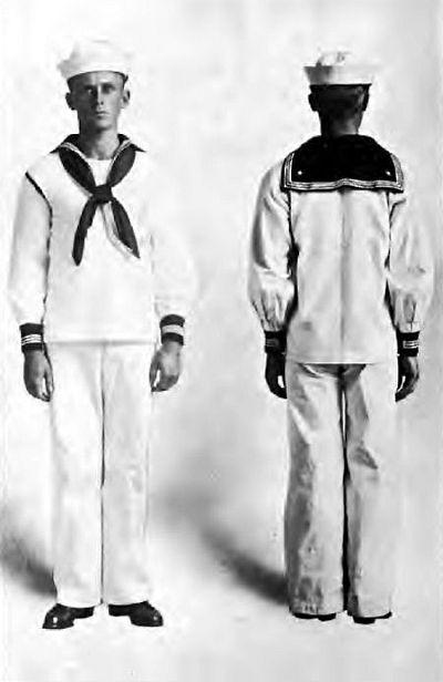 US Navy uniform White Dress 1915 WWI