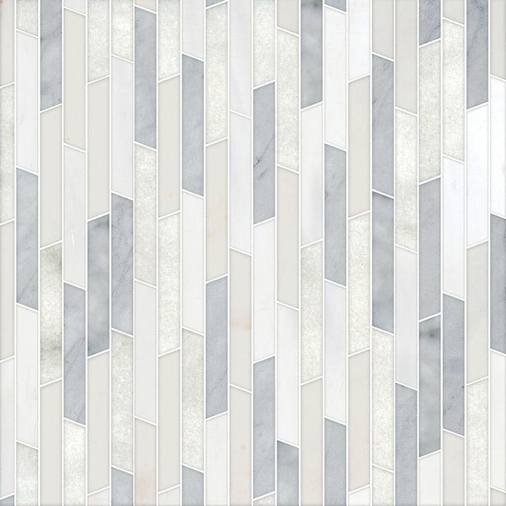Talya Multi Finish Rhodes Av A G D Marble Waterjet Mosaics 8 13/16x 14 5/16 - From Country Floors of America