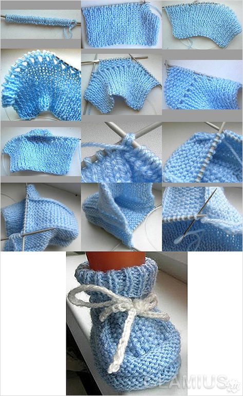 Инструкция по вязанию пинеток спицами