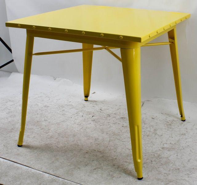 Стол Толикс Квадратный, 80x80см. (Tolix Square, 80x80cm.) металлические дизайнерские для уличных кафе, бара, бистро, фастфуда в стиле лофт