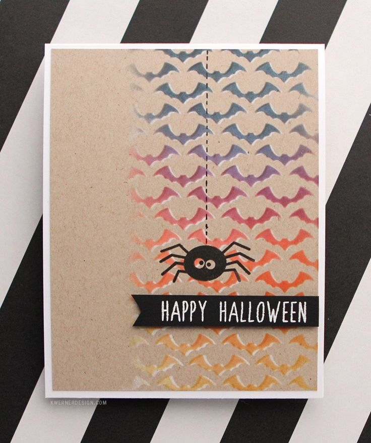 Halloween Card Making Ideas Part - 50: Stenciled Halloween Card
