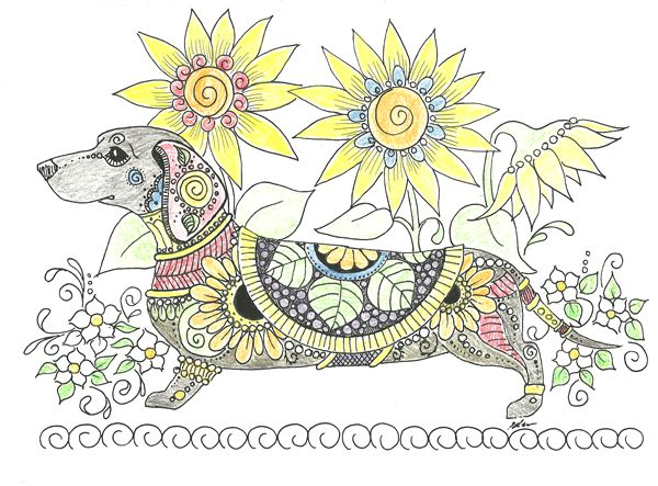 110 Best Art Of Dachshund Images On Pinterest