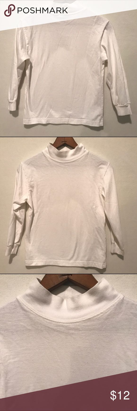 LL Kids by LL Bean Kids White Mock Turtleneck Reasonable offers considered 🛍 Bundle 2 or more items and save! 🎁 Bundle 5 items and I will reimburse the shipping fee 🎉.  White mock turtleneck for kids. Boys size S8. 100% cotton. Measures 14 inch armpit to armpit and 20 inch shoulder to bottom hem. Preloved and in excellent condition! L.L. Bean Shirts & Tops Tees - Long Sleeve