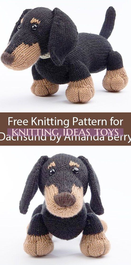 Free Knitting Pattern For Dachshund By Amanda Berry - Toy ...