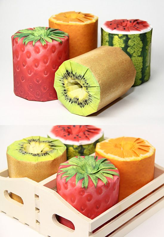 In Japan, Toilet Rolls That Are Packaged To Look Like Fruits